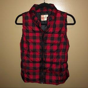 Ruff Hewn checkered vest, size small